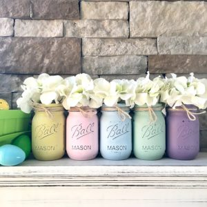 Mason Jar Centerpiece Set, Spring Decor
