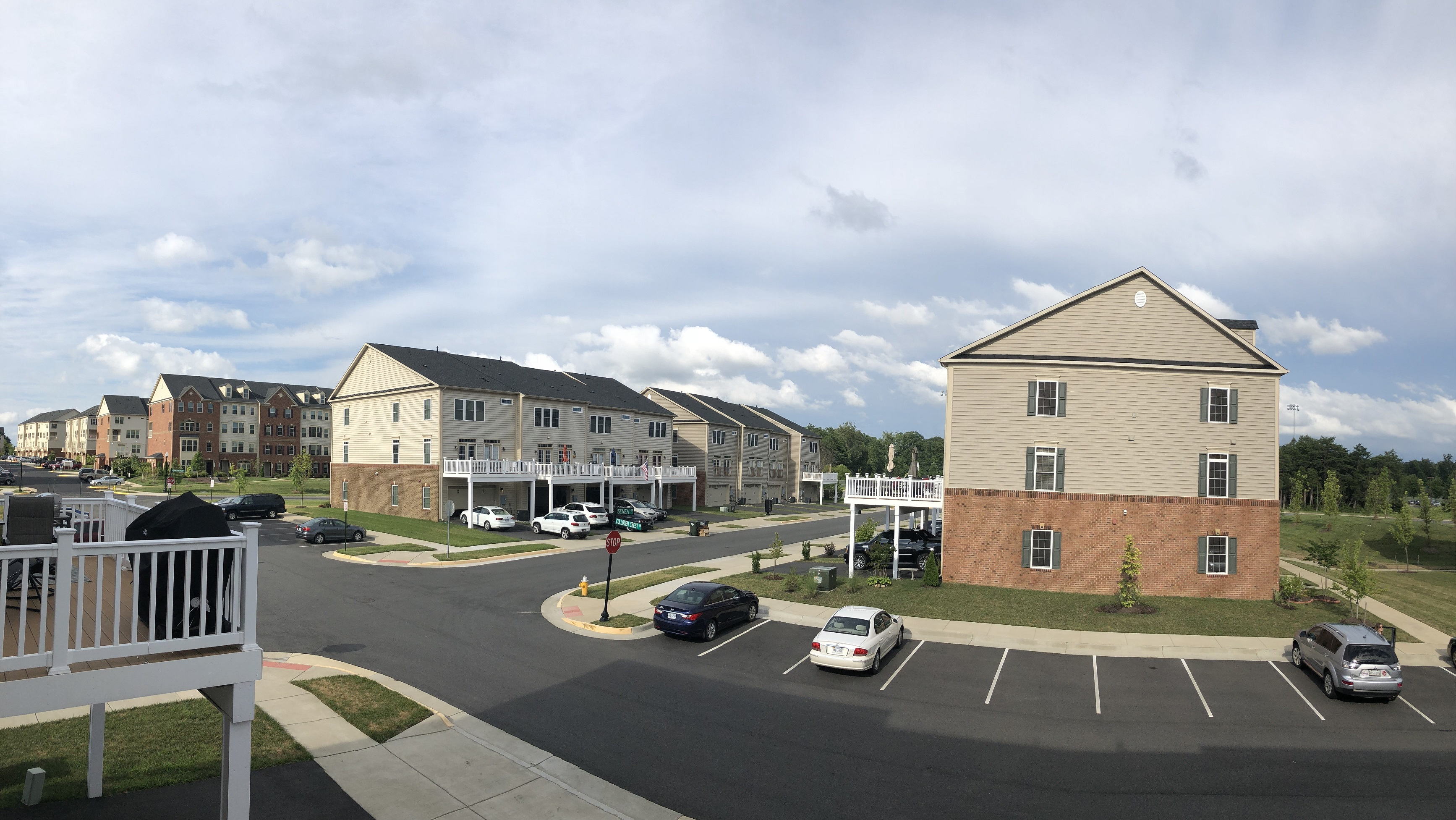 Wentworth Green Townhomes|rear perspective|Gainesville, VA